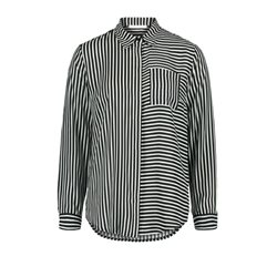 Betty & Co Striped Blouse Black