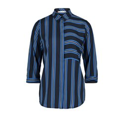 Betty & Co Striped Blouse Blue