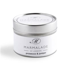 Marmalade Of London Prosecco & Juniper Small Tin Candle