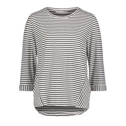 Betty & Co Striped Top White