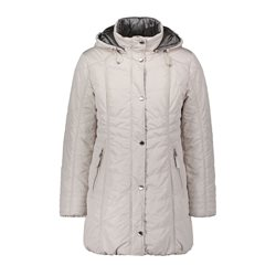 Betty Barclay Quilted Coat Cream