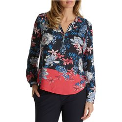 Betty & Co Floral Print Blouse Navy