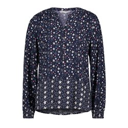 Betty & Co Star Print Blouse Navy