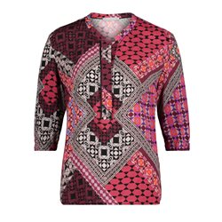 Betty & Co Ethnic Print Blouse Red