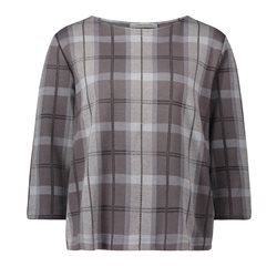 Betty Barclay Checked Top Grey