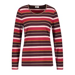 Gerry Weber Striped Top With Gold Neckline