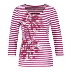 Gerry Weber Stripe And Flower Top Pink