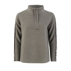 Monari Hooded Jumper With Sequins Grey