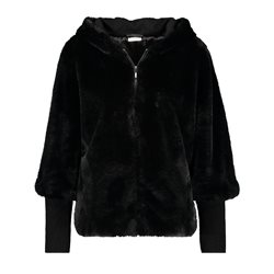 Gerry Weber Velvet Hooded Jacket Black