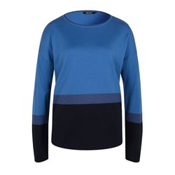 Olsen Colourblock Jumper Blue