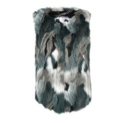 Gerry Weber Fluffy Gilet Green