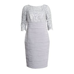 Cabotine Lace Sleeve Dress Mink