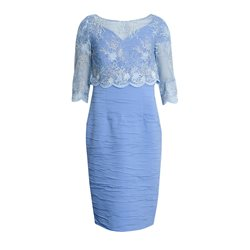 Cabotine Lace Overlay Dress Blue