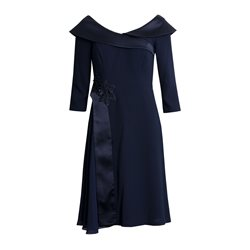 Zeila Dress With Shawl Navy