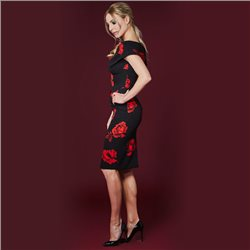 Mellaris Dress Black And Red