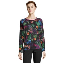 Betty Barclay Floral Print Jumper Black