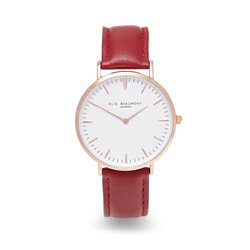Elie Beaumont Oxford Large Face Red Strap