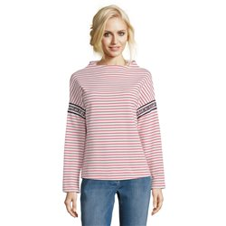 Betty & Co Stand Up Collar Striped Jumper