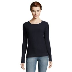 Betty & Co Sunburst Ribbed Jumper Navy
