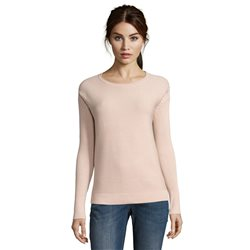 Betty & Co Sunburst Ribbed Jumper Pink