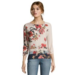 Betty & Co Floral Patterned Blouse Pink