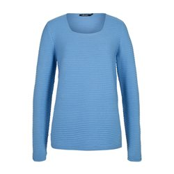 Olsen Ribbed Jumper Blue