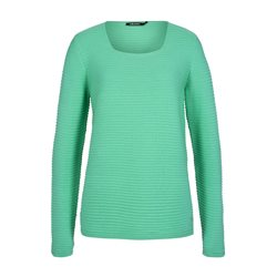 Olsen Ribbed Jumper Green