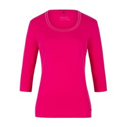Olsen Jewelled Cotton Top Pink