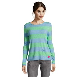 Betty Barclay Striped Knit Jumper Blue