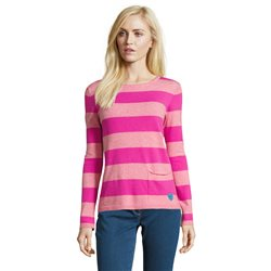 Betty Barclay Striped Knit Jumper Pink