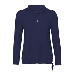 Monari High Collar Jumper Blue