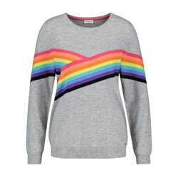 Gerry Weber Rainbow Stripe Jumper Grey