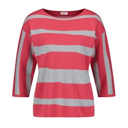 Gerry Weber Abstract Stripe Jumper Pink