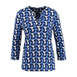 Gerry Weber Abstract Circle Top Blue