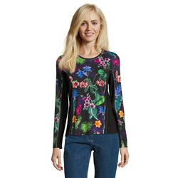 Betty Barclay Floral Print Jumper Green