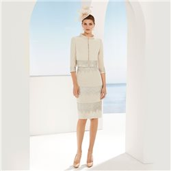 Rosa Clara Dress With Jacket Beige