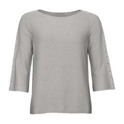 Monari Knitted Stud Jumper Grey