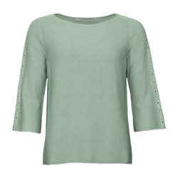 Monari Knitted Stud Jumper Mint
