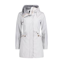 Betty Barclay Crossover Parka Coat Grey