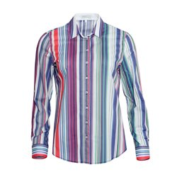 Erfo Colourful Striped Shirt Red