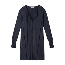 Sandwich Open Fine Knit Cardigan Navy
