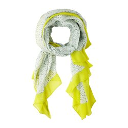 Sandwich Woven Spotted Scarf Green