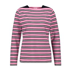 Gerry Weber Striped Long Sleeved Top Pink