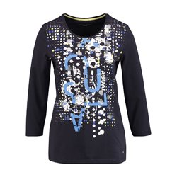 Gerry Weber Abstract Printed Top Navy