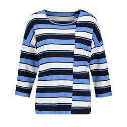 Gerry Weber Striped Abstract Top Blue