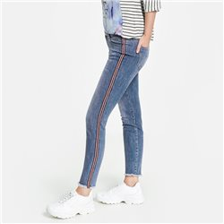 Taifun Jeans With Ribbon Detail Blue