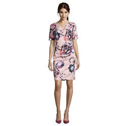 Vera Mont Floral Print Sheath Dress Pink