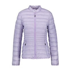 Gerry Weber Lightly Quilted Checked Coat Lilac