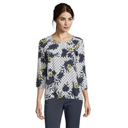 Betty Barclay Spotted Floral Blouse Dark Blue