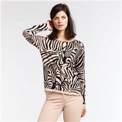 Sandwich Zebra Print Jumper Blush